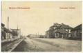 Békéscsaba, Andrássy út 1908 - vasúti sín, Magyar Műbútorgyár Rt. épülete, gyalogsági laktanya