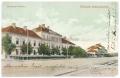 Békéscsaba, Andrássy út 1909 - gyalogsági laktanya, vasúti sín
