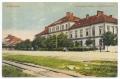 Békéscsaba, Andrássy út 1910-20 - gyalogsági laktanya, vasúti sín, Corvina könyvkereskedés (Békéscsaba)