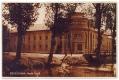 Békéscsaba, Árpád Fürdő 1931- főépület, gyalogos fahíd, kútfúrás, Körös-part