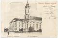 Békéscsaba, evangélikus gimnázium és nagytemplom 1901- Békés-Csaba