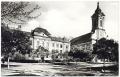 Békéscsaba, evangélikus gimnázium és nagytemplom 1957