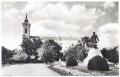 Békéscsaba, Kossuth tér 1961 - evangélikus nagytemplom, halászlányos kút, Kossuth szobor