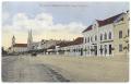 Békéscsaba, Szabadság tér 1915 - Fegyveres Erők Klubja (FEK), Láng-ház, szekér (hibás felirat)
