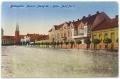 Békéscsaba, Szabadság tér 1917 - szecessziós házsor, Fegyveres Erők Klubja (FEK), Láng-ház, Fábry-ház