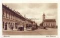Békéscsaba, Szent István tér 1930-40 - Fiume Hotel, MAVART buszjárat
