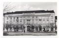 Békéscsaba, Szent István tér 1940-50 - Laszky-ház, vasúti sín