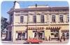 Békéscsaba, Andrássy út 1985 - Nádor Hotel, ÁFÉSZ üzlet, Ifjúsági Áruház, piros zaporozsec