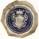 Békés vármegye pecsétje 1836 - levélzáró, d=52 mm, 1947-ben postázva