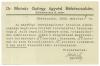 Békéscsaba, Zsilinszky u. 3. - Dr. Molnár György ügyvéd 1922