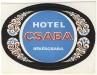 Békéscsaba, Fiume Hotel 1960-70 - bőröndcímke
