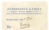 Békéscsaba, Magyar Korona Gyógyszertár 1927 - Debreczeny Károly