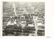 Békéscsaba, Szent István tér 1974 - városháza, múzeum, ifjúsági ház, Körös Hotel (eredeti légifotó)