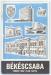 Békéscsaba, térkép 1975 - Kartográfiai Vállalat 20000 példány
