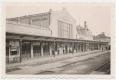 Békéscsaba, vasútállomás 1939-44 - sínek, IBUSZ, 1939-ben lett felújítva az állomásépület