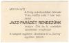 Békéscsaba, Virág Cukrászda 1947 - jazz parádé meghívó